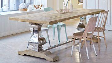 großer esstisch für die küche   wood   pinterest, Esstisch ideennn