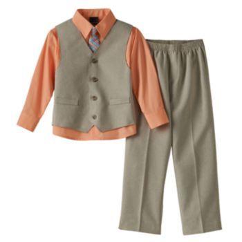 Van+Heusen+Solid+Vest+Set+-+Boys+4-7