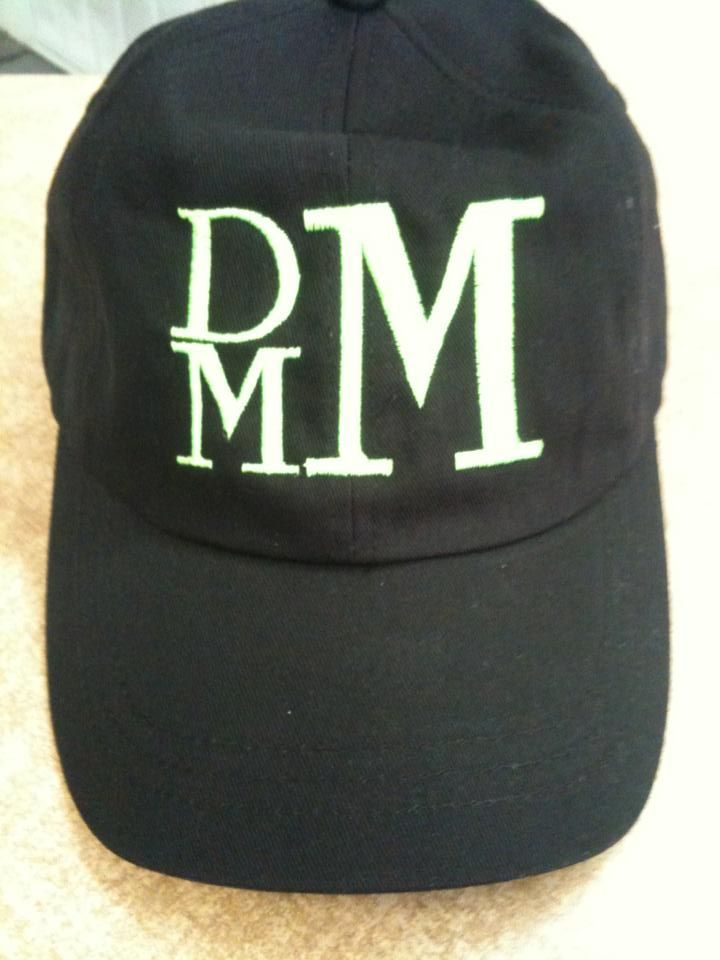 embroidered monogram ball cap, available in several colors from https://www.facebook.com/LuvleighCreations