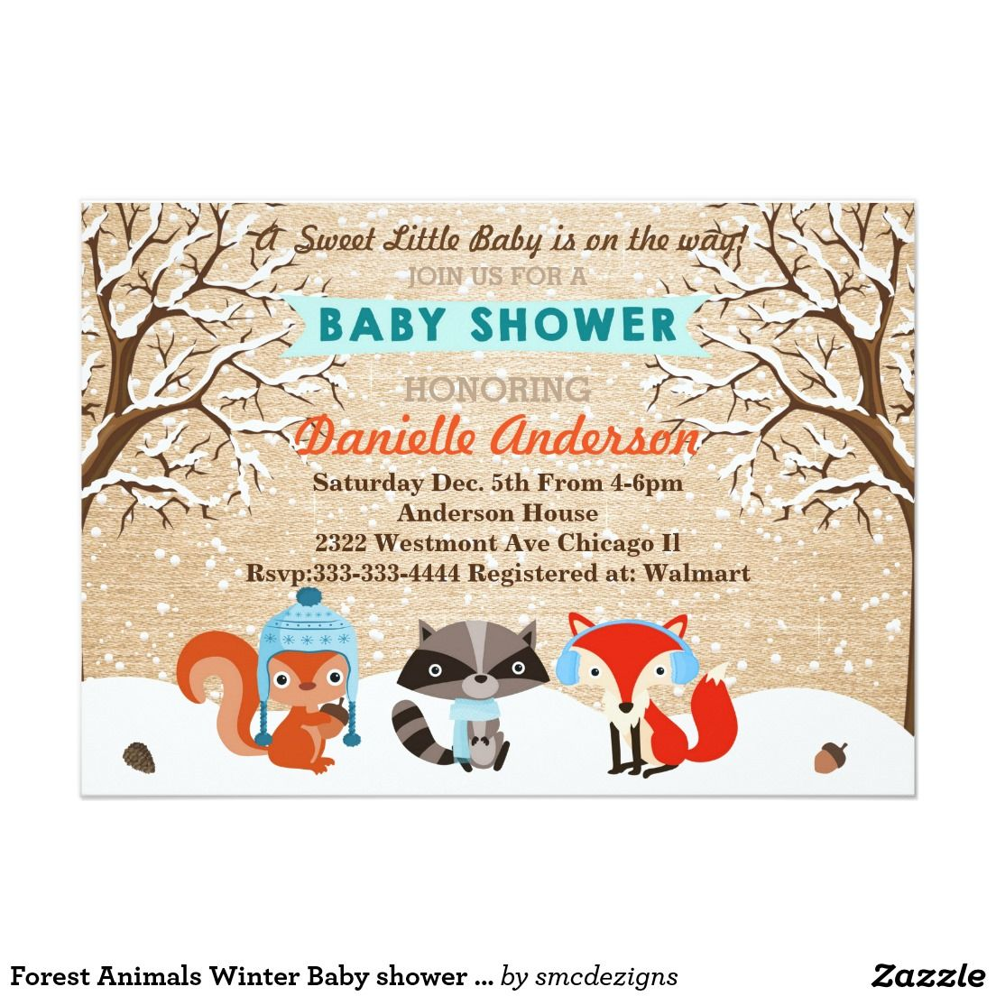Baby Shower Invitations Free Templates Online Extraordinary Forest Animals Winter Baby Shower Invitation  Winter Baby Showers .