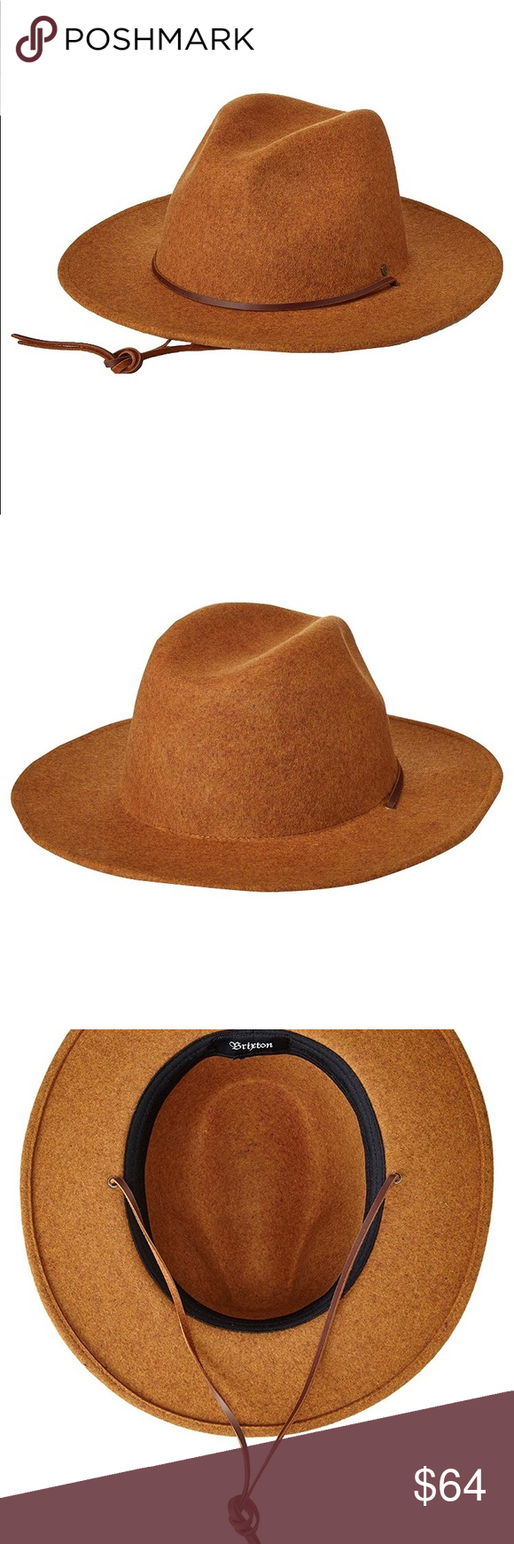 6a0348852a0 Field Wide Brim Felt Fedora Hat LARGE Color  Heather Coffee The field is a  wide