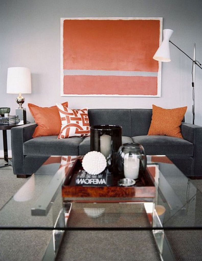 Nice orange chairs living room with regard to property