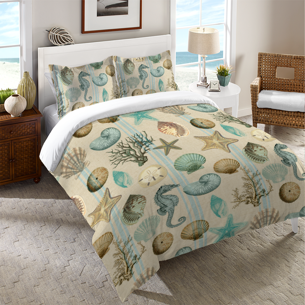 Beachcomber Duvet Cover #coastalbedrooms
