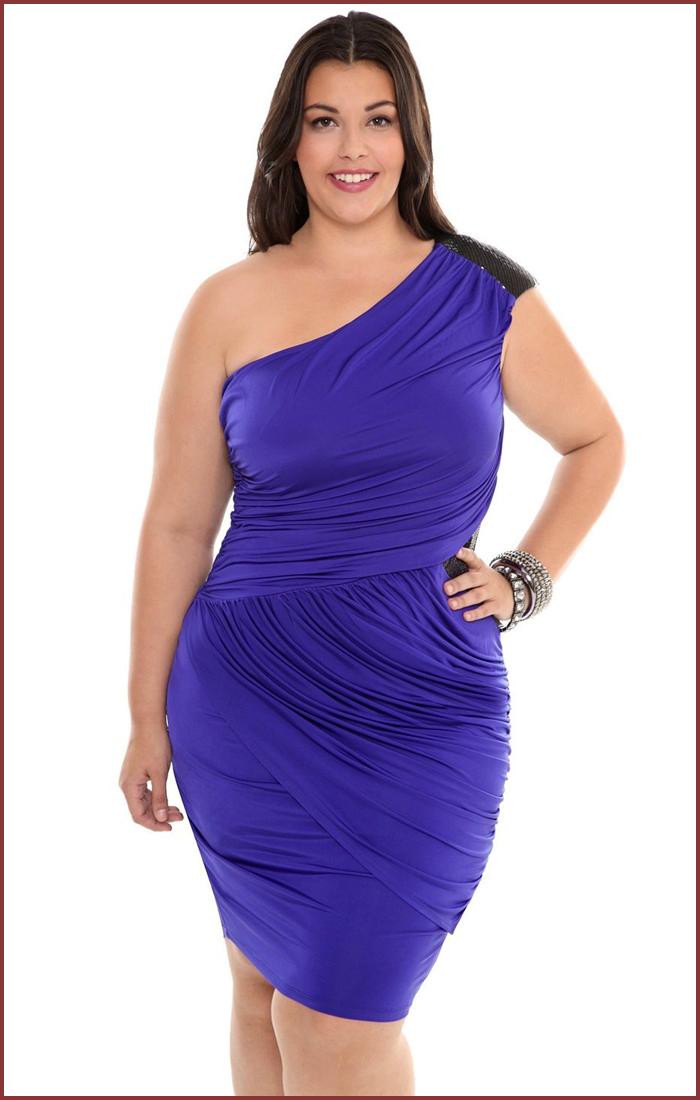 Plus Size Dresses | Torrid Plus Size Blue Sequin One Shoulder ...
