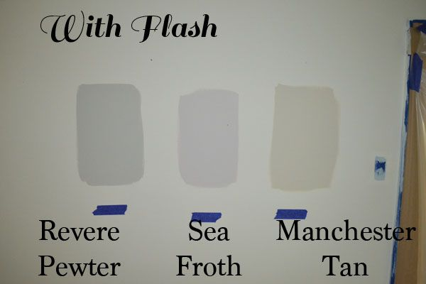 Why Painting Is The Hardest Decision Ever Benjamin Moore S Revere Pewter Sea Froth And Manchester Tan Jendarling