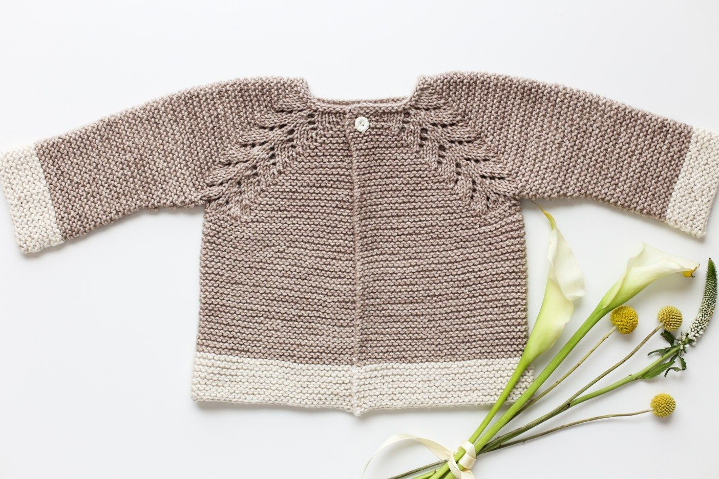 2e57fbe8fe Lovely Knit Top Down Cardigan Baby Sweater