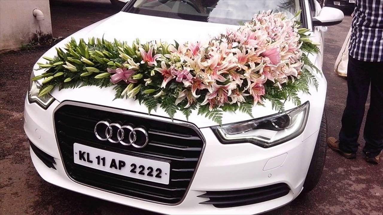 Indian Wedding Decoration Ideas Unique Wedding Car Decoration With Flowers Dekorasi