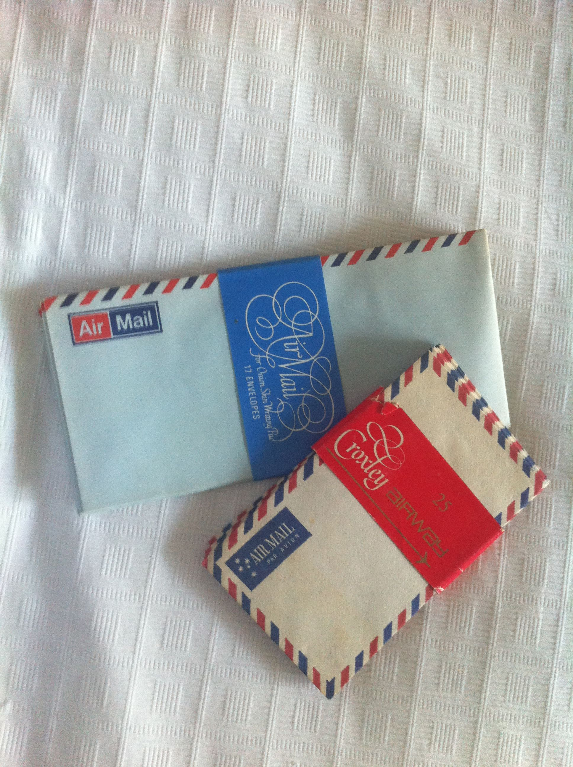 Vintage Air Mail Envelopes How Cute Are These Found Them