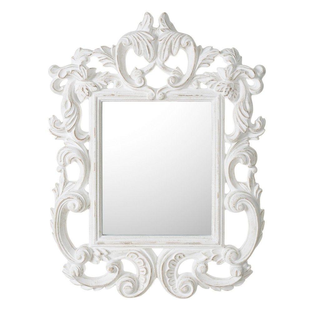 Este espejo blanco rozado es la oferta del d a ha bajado Oferta decoracion hogar online