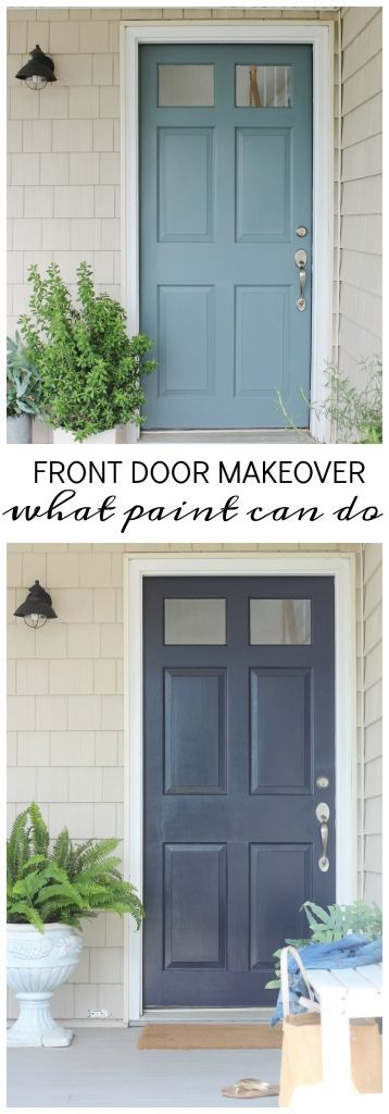 Front Door Makeover-Itu0027s Amazing What Paint Can Do Hotellerie