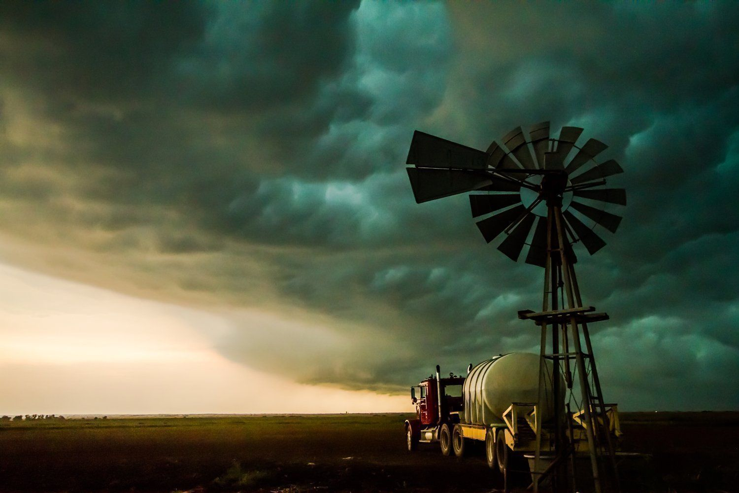 Oklahoma Pictures Art Print Windmill Truck Energy Symbolism Wall