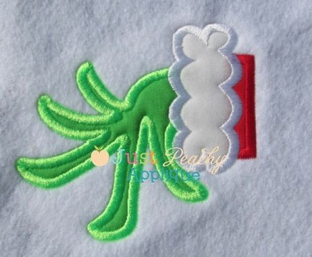 Mr. mean green hand applique design christmas designs applique
