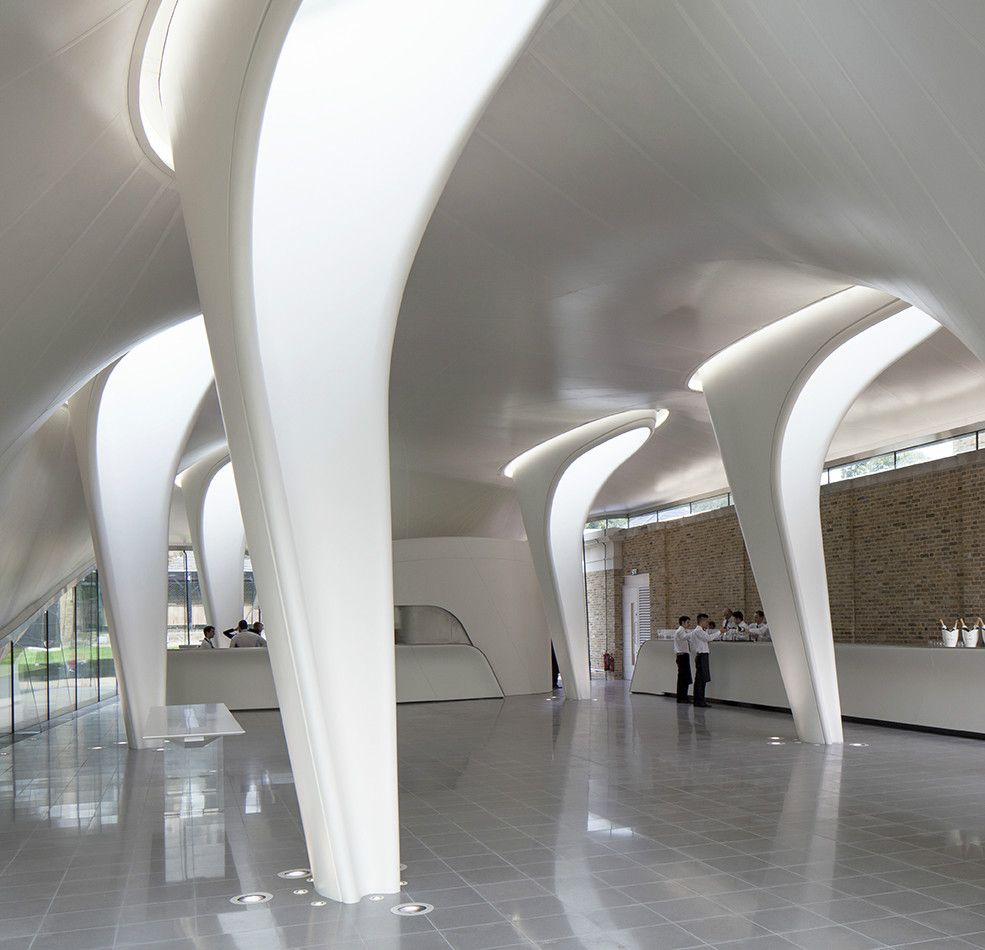 Modern Home Architecture Interior Designs With Columns: Column/Light Scoop (Light Well) Serpentine Pavilion