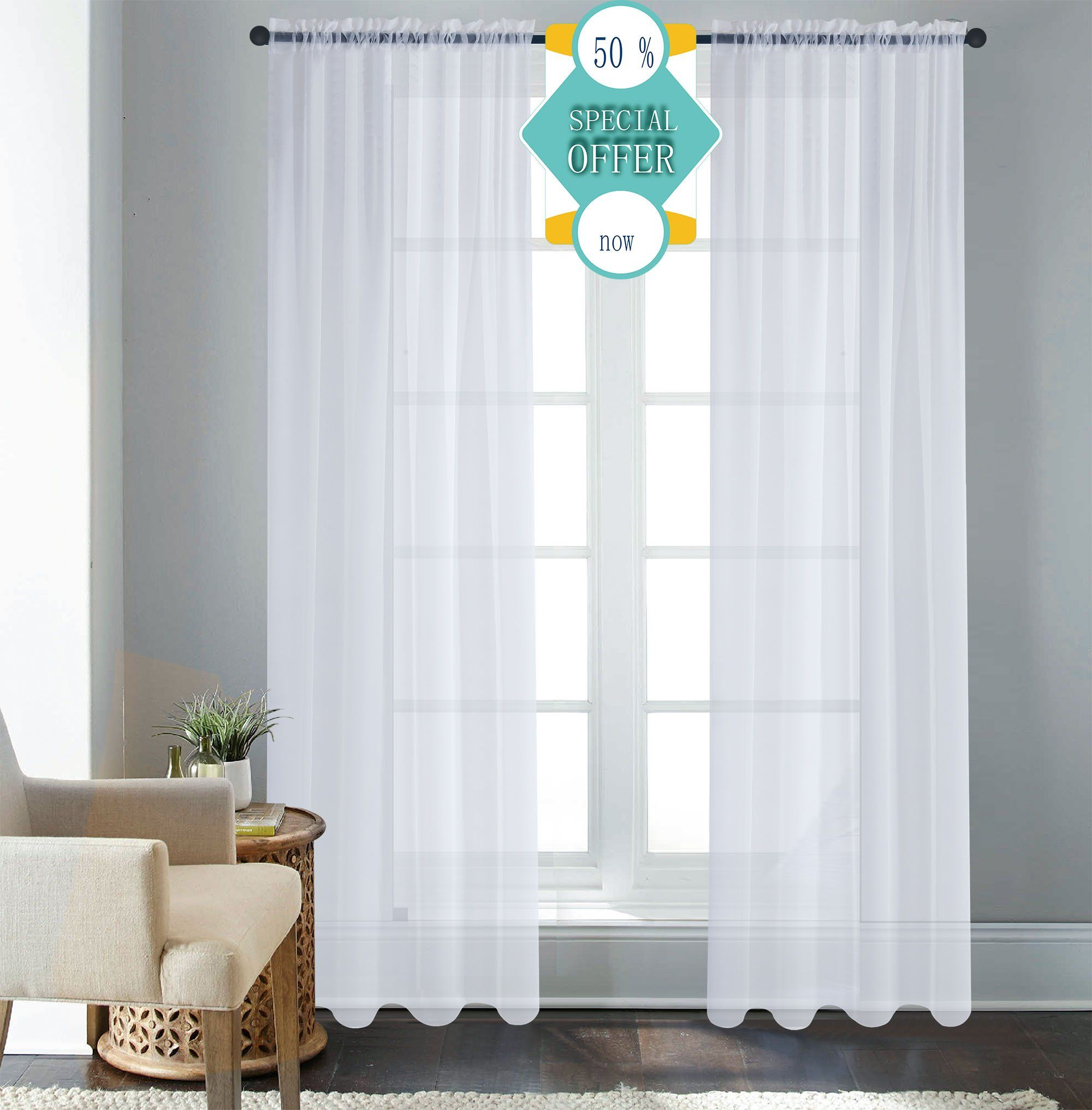 bay curtains sheer voile panel curtain oyster tier