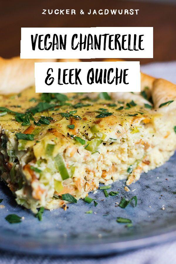 Vegan Chanterelle and Leek Quiche #desertlife