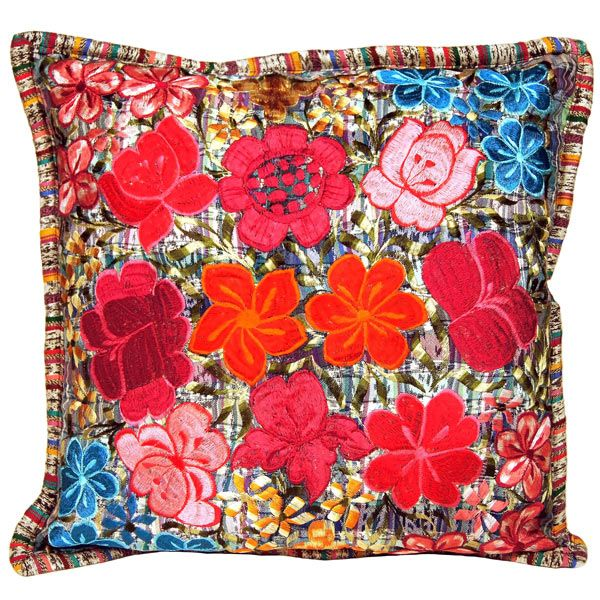Fresco Fabrics Multi-Floral Pillow at The Maverick Western Wear