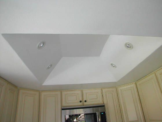 Kitchen Tray Ceiling Lighting Tray Ceiling Idea With Spotlights