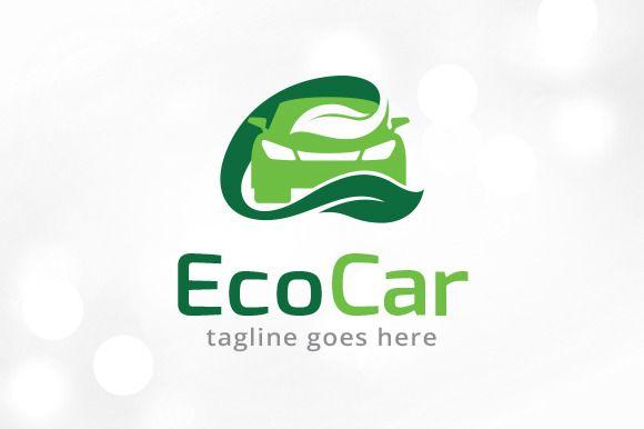 Eco Car Logo Template Com Imagens Boas Ideias
