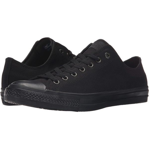 Converse Chuck Taylor All Star II Premium Canvas Mono Ox (Black/Black/Black)  Classic Shoes