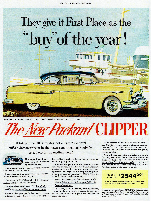 Vintage 1953 Packard Clipper advedrt