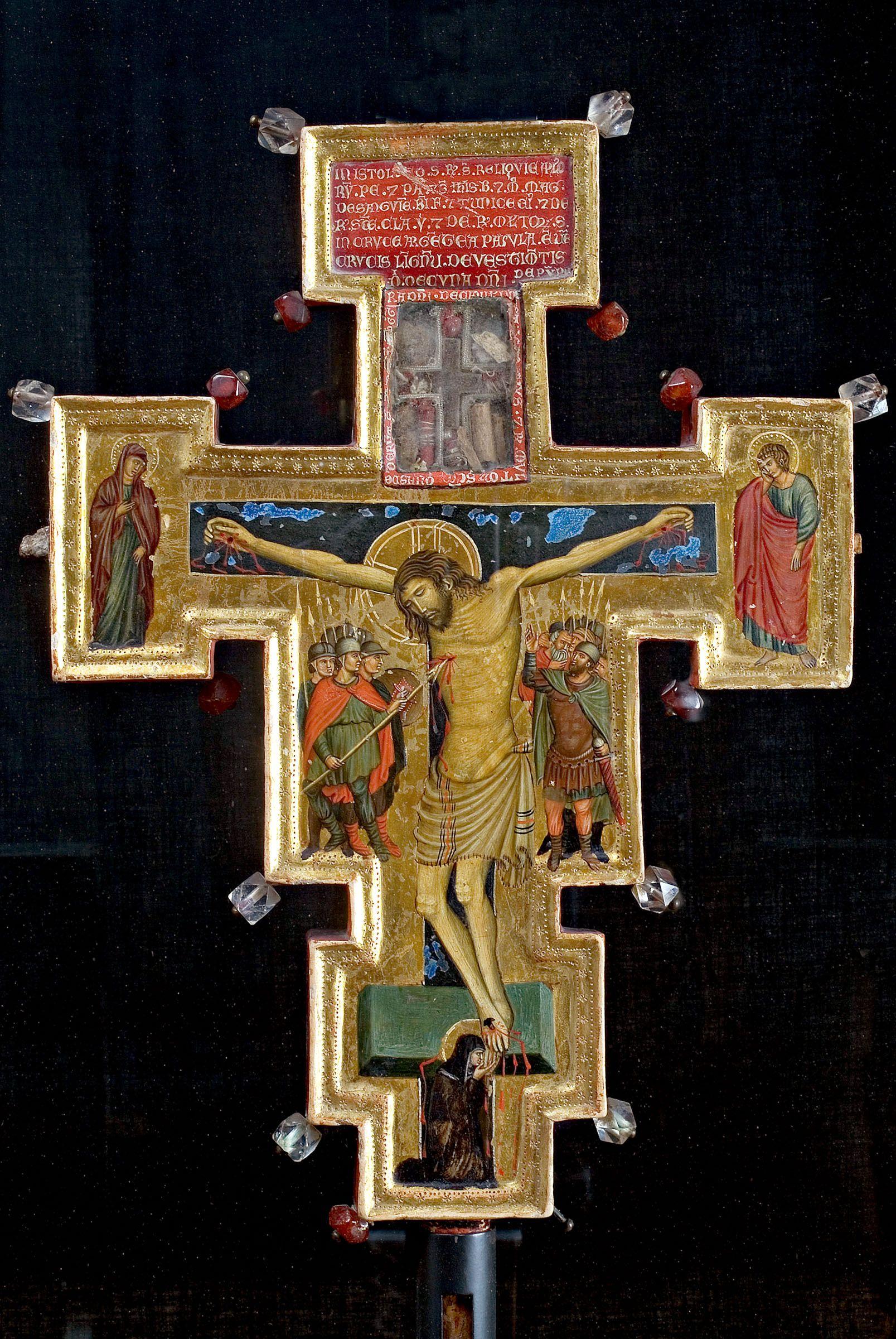 Maestro Di Santal Croce Reliquiario Bifacciale 1290 1310 Ca