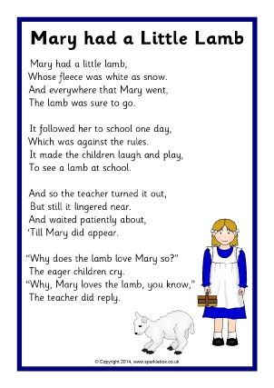 Mary Had A Little Lamb Easy Piano Sheet Music Circle The Letter J Worksheet And Nursery Rhyme