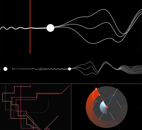 """Collection of audiovisual explorations where sound is visually generated by lines, points and shapes. Check more under the tag """"Shaping Sound"""". [pic. SYN-PHON, Candaş Şişman / CONDUCTOR, Alexander..."""