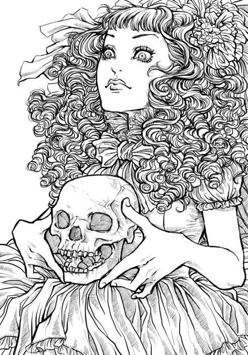halloween coloring pages detailed dresses - photo#20
