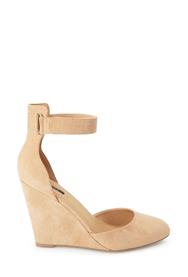 Faux Suede Strappy Wedges | FOREVER21 - 2000101387