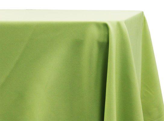 90 x156 rectangular oblong polyester tablecloth apple green