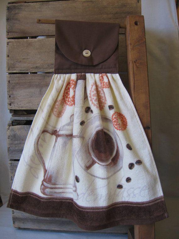 Coffee Kitchen Tea Towel Kitchen Towel With Coffee Cup Coffee Etsy Coffee Kitchen Kitchen Tea Towels Tea Towels