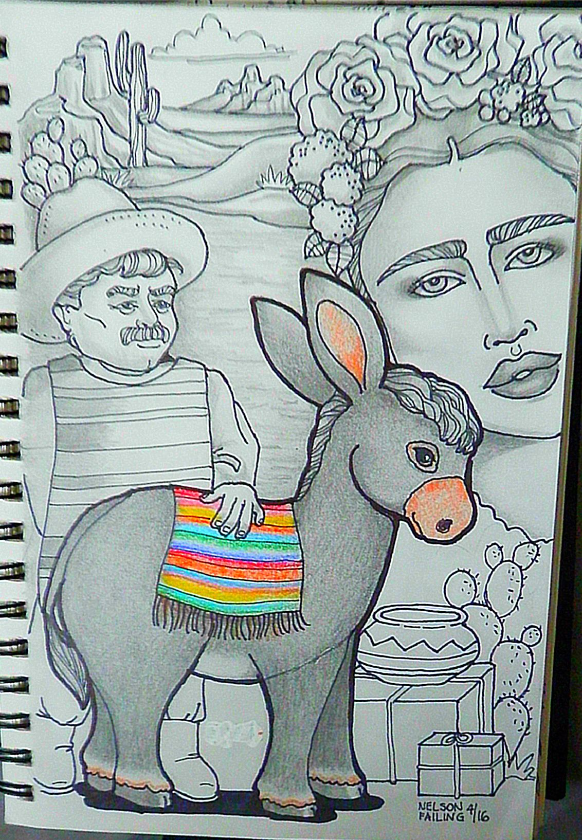 DONKEY CHALLENGE....Nelson Failing...The Art Colony | Coloring Pages ...