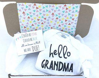 Pregnancy Announcement Box (Hello Grandma)