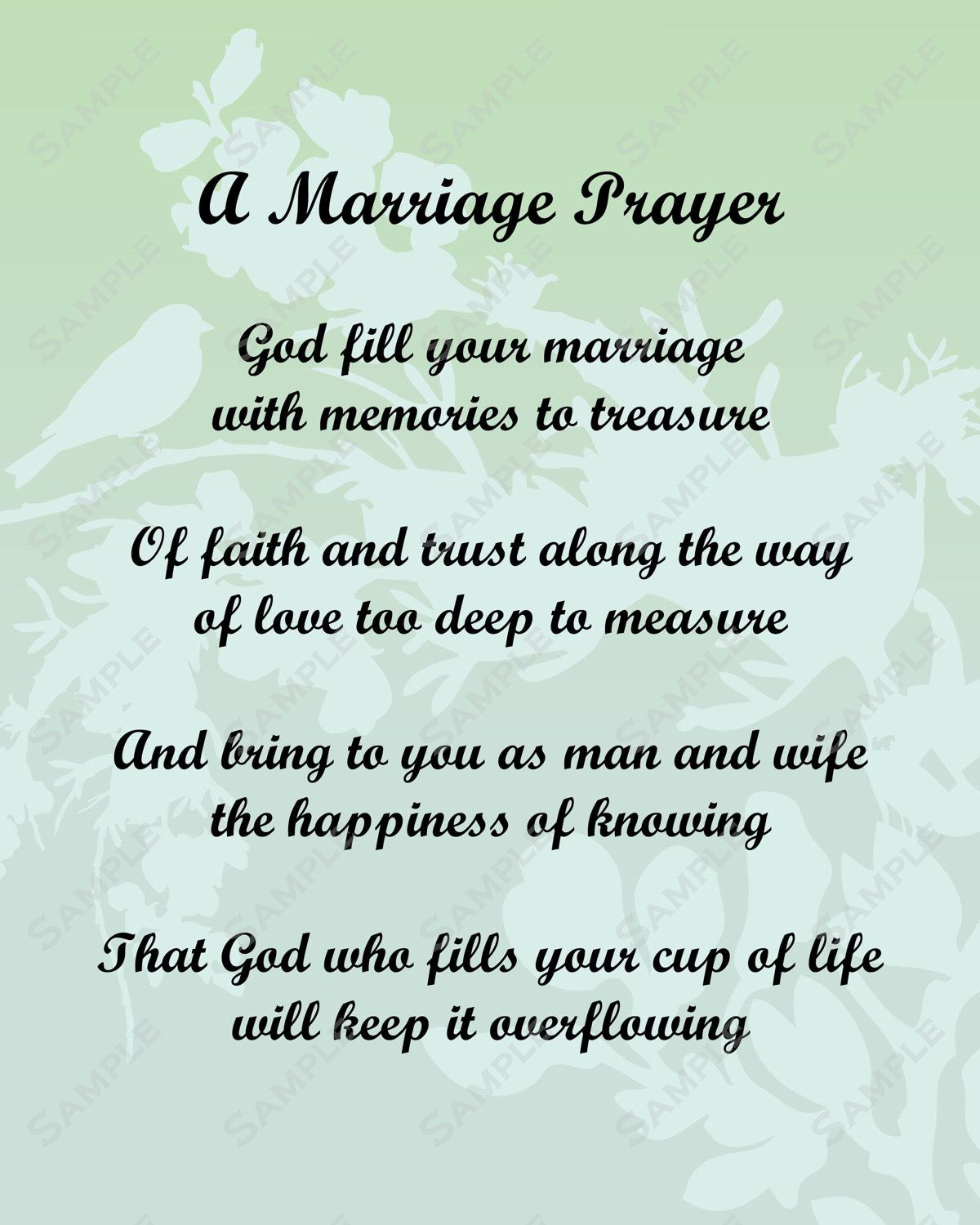 pick a poem for bride and groom | Marriage Prayer Poem ...