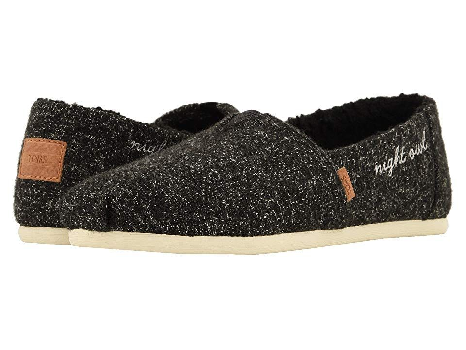 TOMS Alpargata Black Multicolor FeltFaux Shearling Womens Shoes With every pair of shoes you purchase TOMS will give a new pair of shoes to a child in need One for One Th...