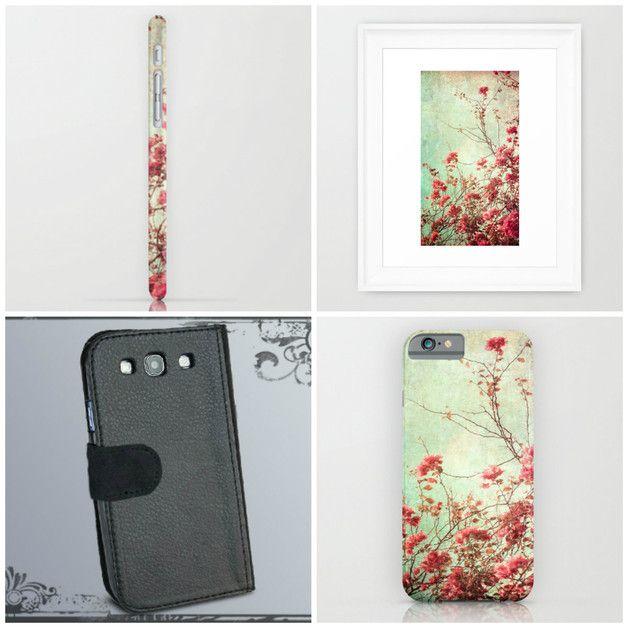 Handyschalen - Smartphone Flip Case Vintage Rose - ein Designerstück von Heavensblue4711 bei DaWanda