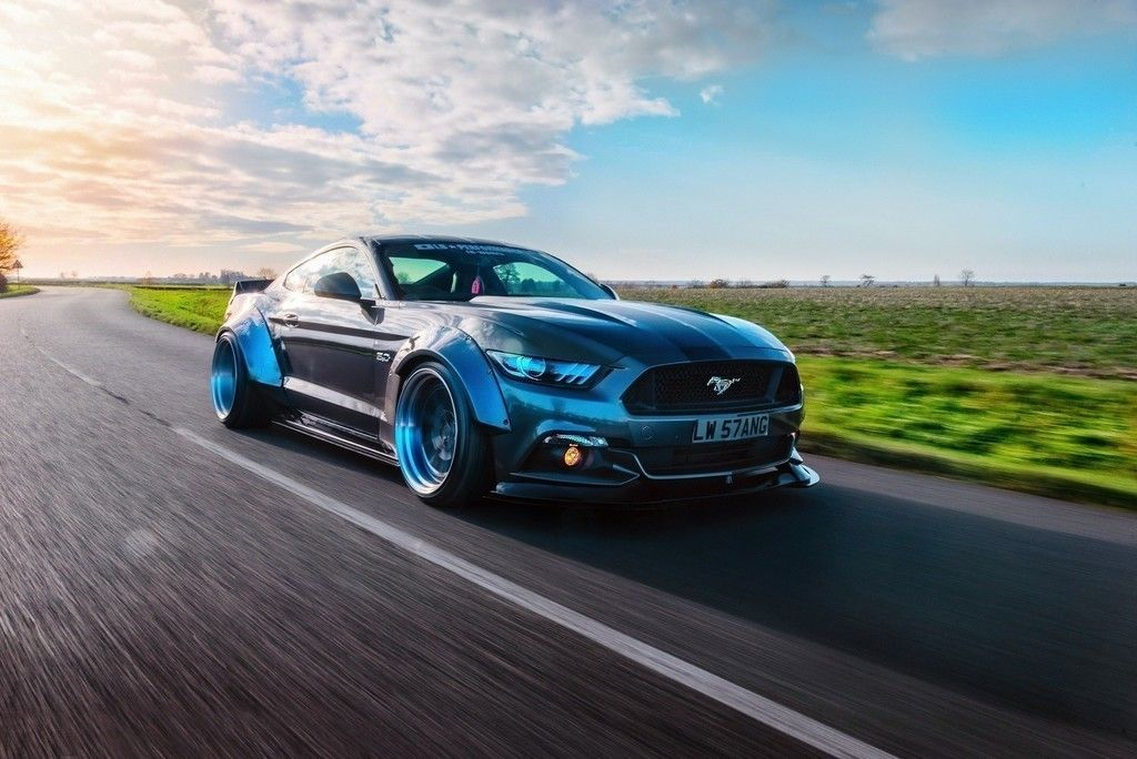 On road, muscle car, Ford mustang GT-R wallpaper | Cars Wallpapers ...