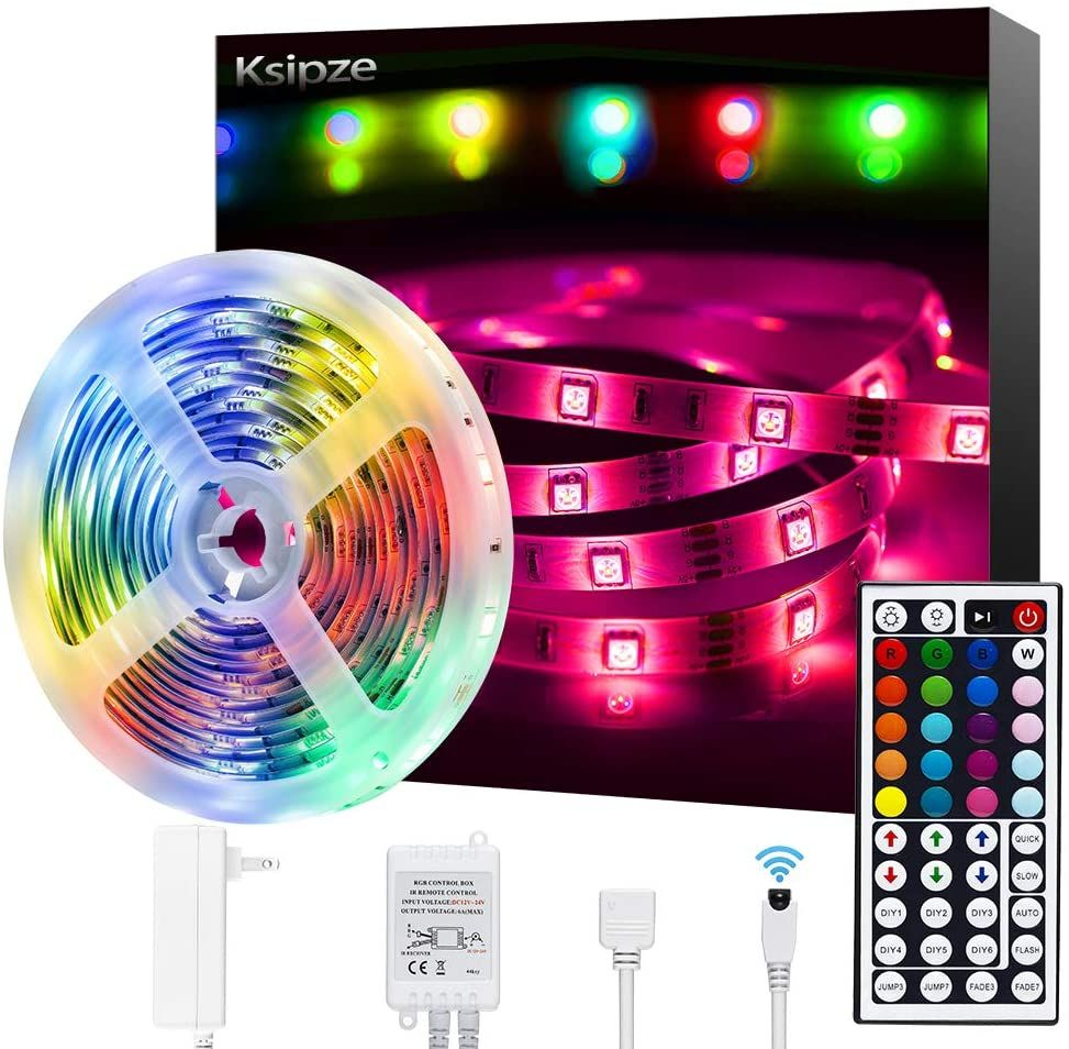 Led Strip Lights 16 4ft Rgb Color Changing 5050 Flexible Strip Lights In 2020 Led Strip Lighting Strip Lighting Flexible Led Strip Lights