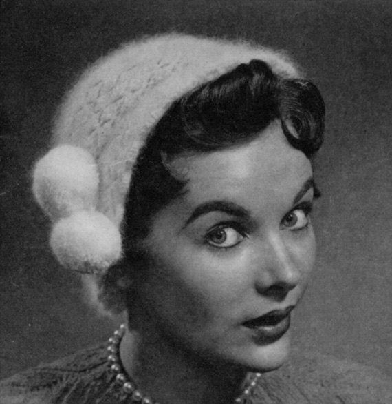 1940s 50s Vintage Hat Pattern - Angora Crocheted Cloche - PDF E-book ...