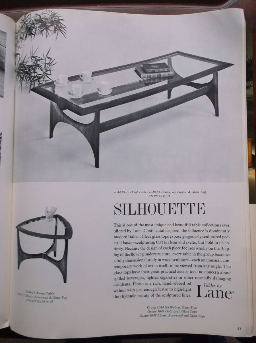 Vintage Lane Furniture Table Portfolio Catalog Fall 1964   Silhouette