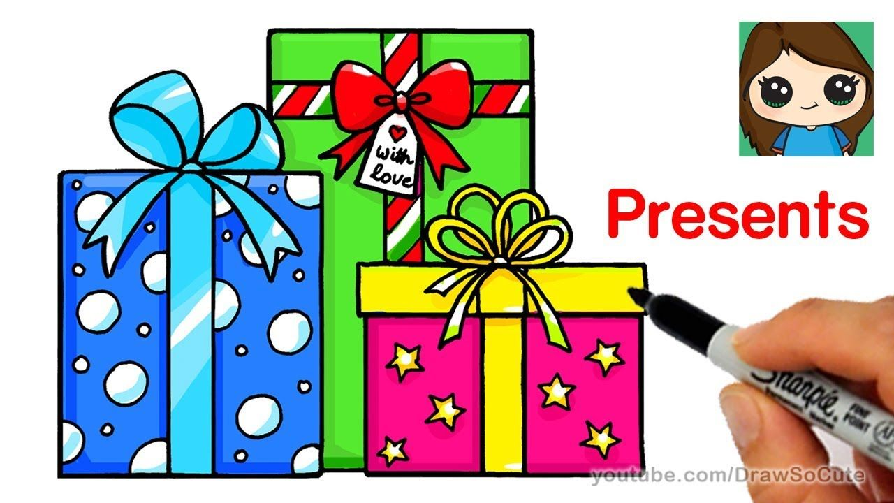 How to Draw Presents Easy Christmas Gifts YouTube