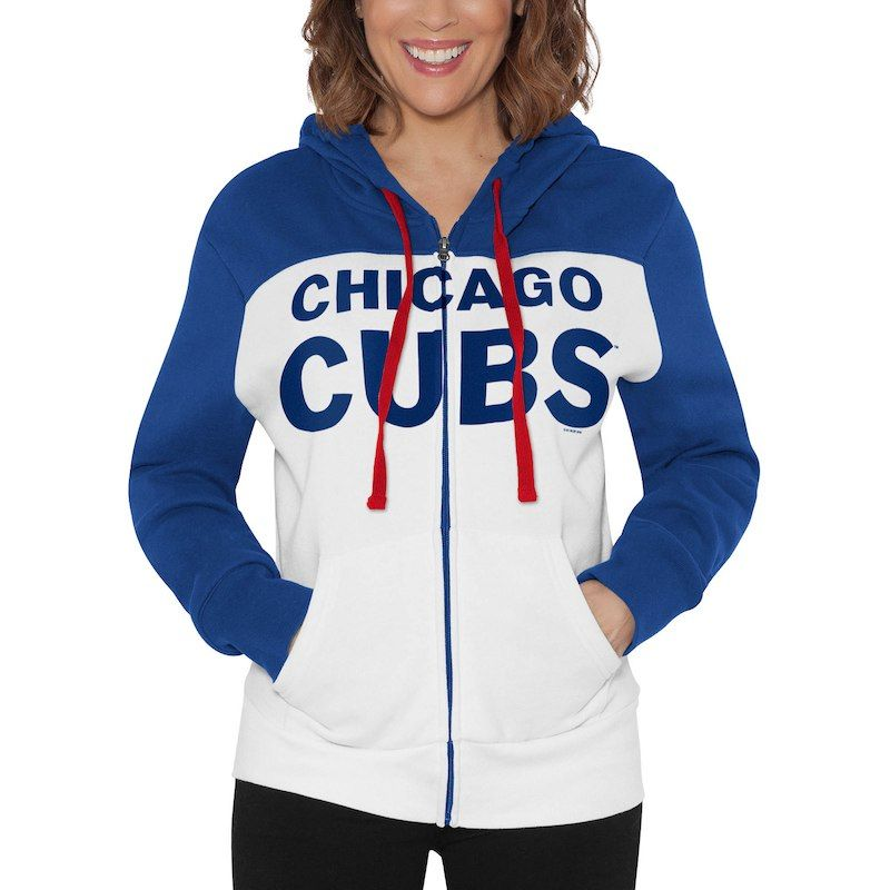 Chicago Cubs Touch by Alyssa Milano Women s Scrimmage Full-Zip Hoodie –  White 29a7e8fb8