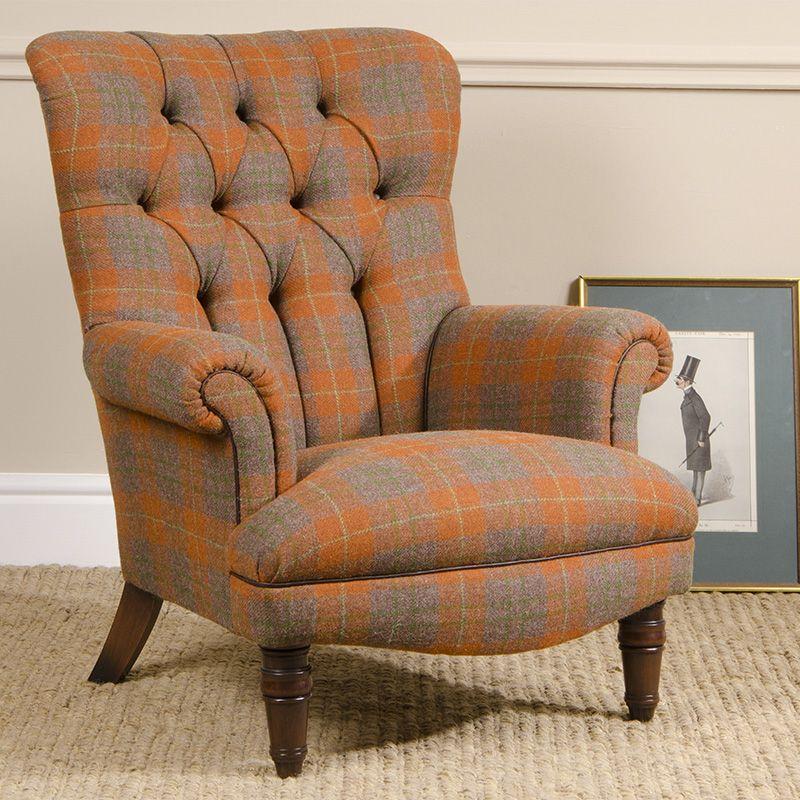 Good Tetrad Harris Tweed Calvay Chair, But In Loden Herringbone Tweed (not  Shown).