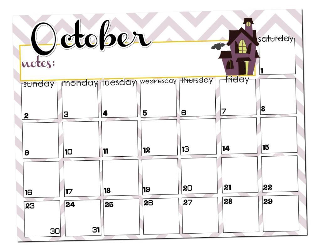 October Halloween 2020 Calendar Template October Calendar Printable   I Heart Nap Time | Calendar