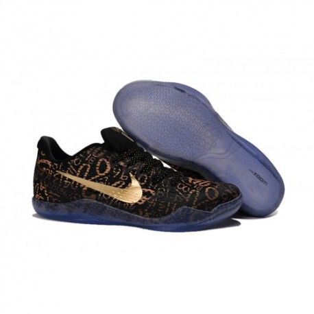 buy online a06c2 334dd The cheap Authentic Nike Kobe 11  Mamba Day  EM Black Gold Shoes factory  store are awesome pair of shoes but it seems the super high top design  isn t for ...