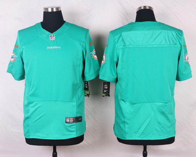b7f7421b8 NFL Customize Miami Dolphins Blank Green Men Nike Elite Jerseys Green Man
