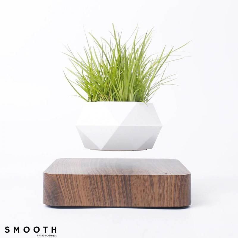 Smooth Living Floating Plant Pot - Brown