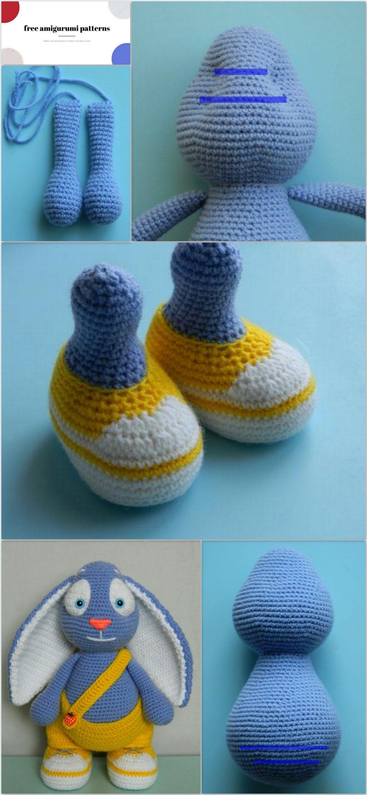 Amigurumi spring rabbit free crochet pattern amigurumi