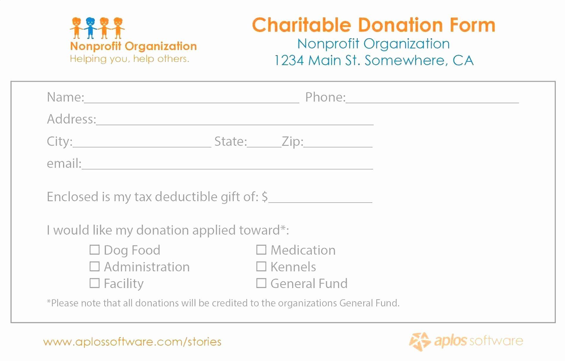 Pledge Card Template Word Beautiful Valid Pledge Forms Template Donation Form Card Template Sponsorship Form Template