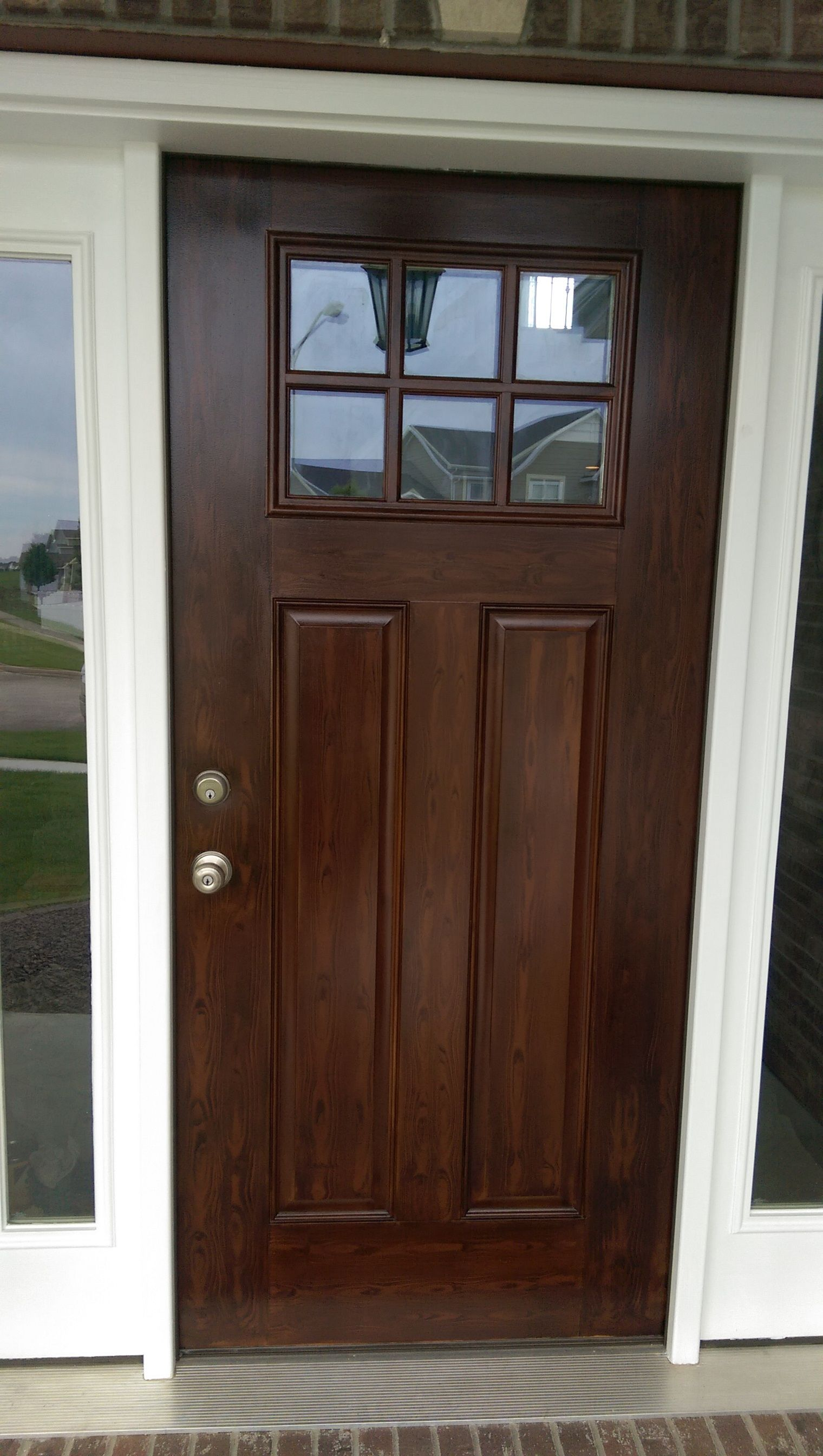 Metal Door Painted To Look Like Wood! CertaPro Painters Of Bloomington  Peoria